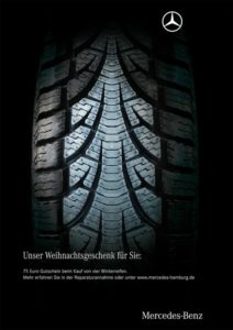 xmas-advertising-mercedes-benz-tire-212x300 Le più originali campagne marketing di Natale!
